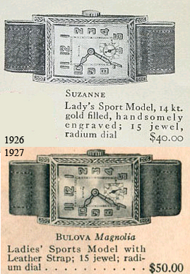 1926 Bulova Suzanne and the 1927 Bulova Magnolia
