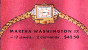 "Bulova Martha Washington ""D"""
