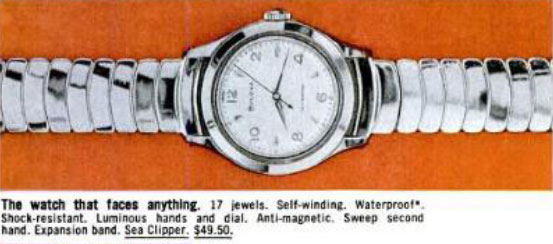 1959 Bulova Sea Clipper watch