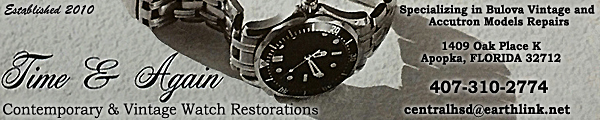 Time and Again Watch Restoration, Florida USA