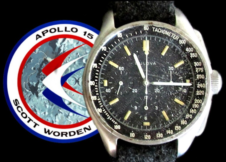 The Bulova chronograph watch worn my Commander Dave Scott during his Apollo 15 mission