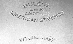 Bulova 1927 Case Markings