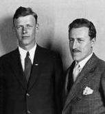 Charles A Lindbergh with Richard Blythe - 1927, iimage coutesy of the Wisconsin Historic Society
