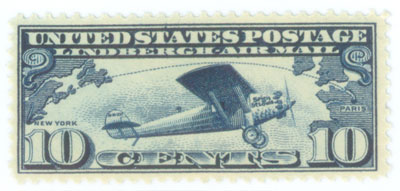Uniited States Lindbergh Mail Stamp
