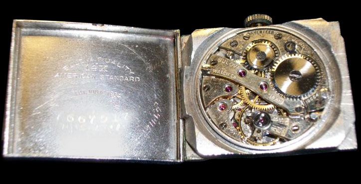 1927 Bulova watch presented to Charles A. Lindbergh movement