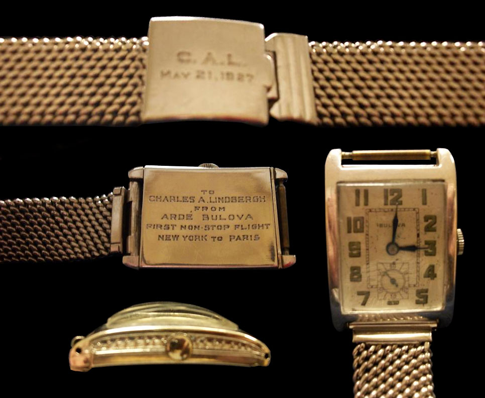 1927 Bulova watch presented to Charles A. Lindbergh