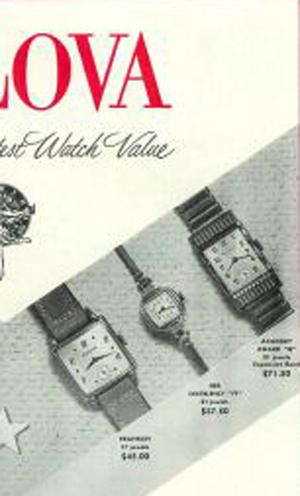 Bulova ad showing Academy Award 'N'