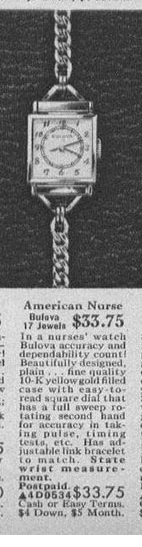 Bulova American Nurse watch