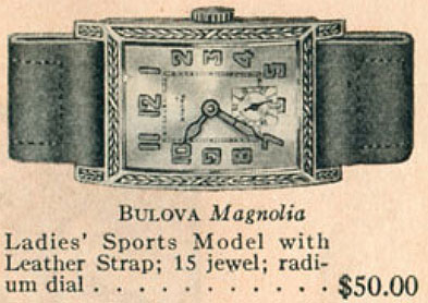 1926 Bulova Magnolia watch