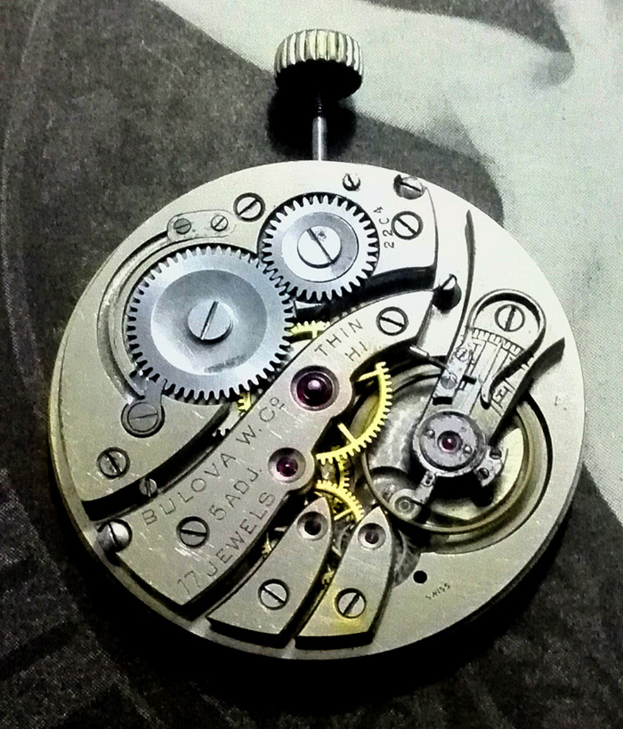 1920s Bulova Thin H1 watch movement