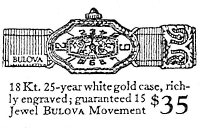 1923 Bulova 6519 watch advert