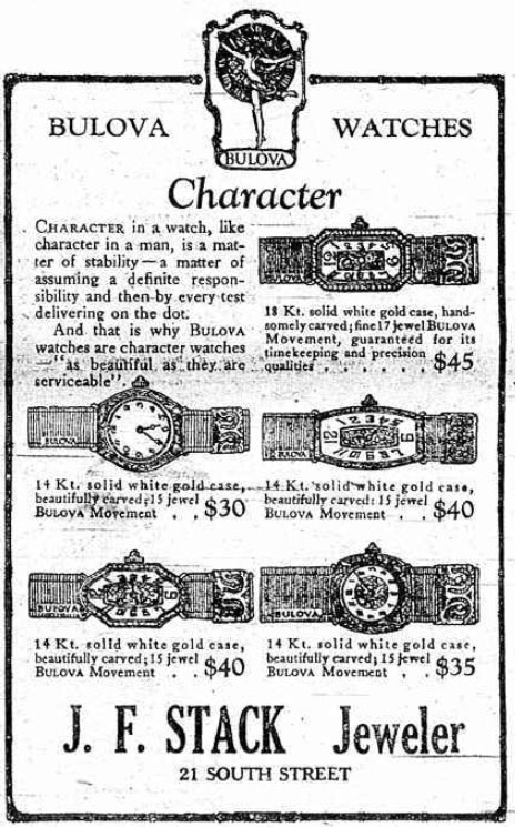 1923 Bulova watch advert