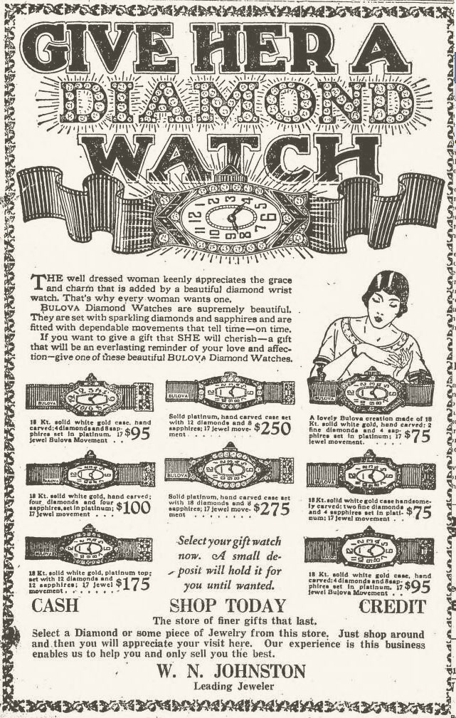 1926 Bulova ladies diamond watches