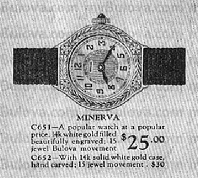 Bulova Minerva watch