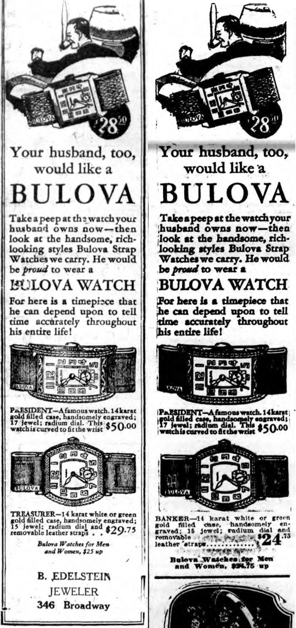 Bulova 1928 Treasurer and Banker