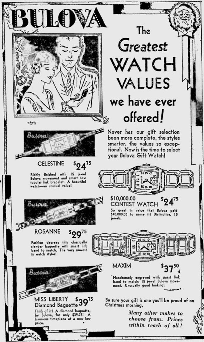 Bulova The Border Cities Star Dec 19 1932