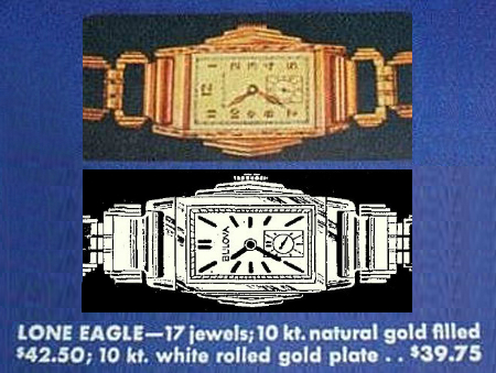 1933/34 Bulova Stepped Lone Eagle