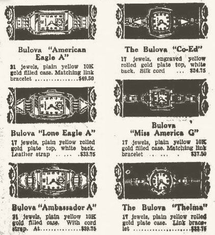 "1940 Bulova advert with Lone Eagle ""A"""