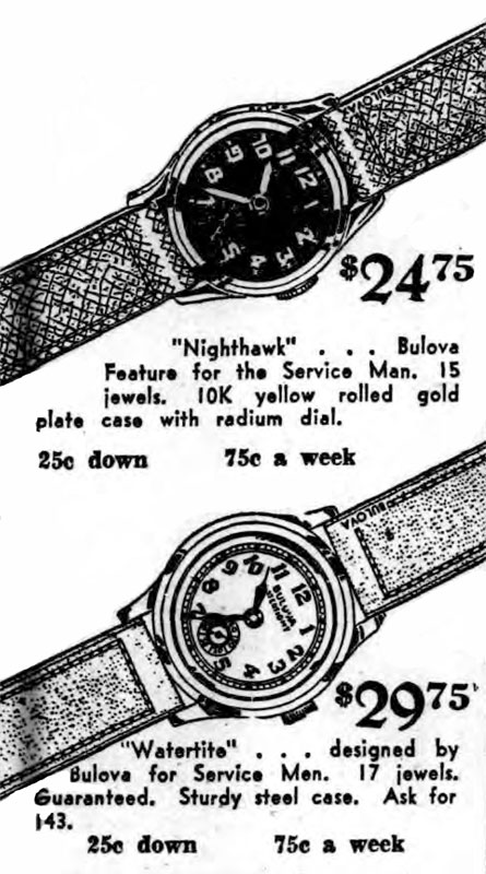 1941 Bulova Nighthawk and Watertite