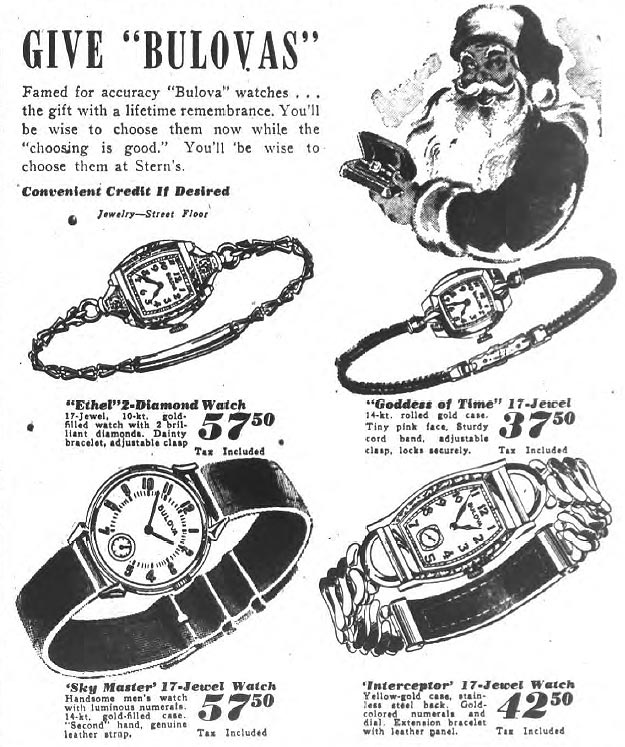 1944 Bulova advert, Interceptor, Sky Master