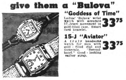 Bulova Aviator + Goddess of Time watch