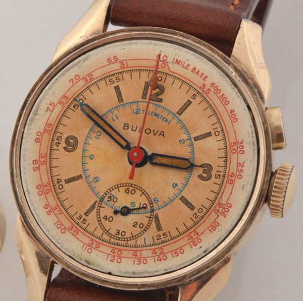 1946 Bulova 10BK movement with chronograph face