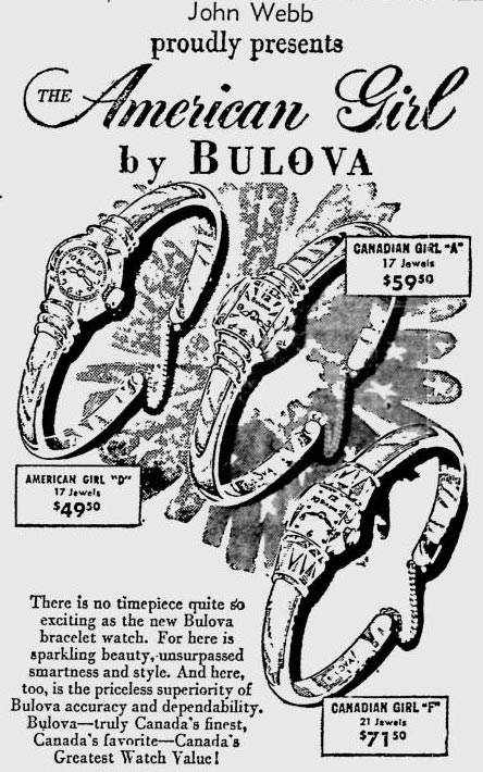 1953 Bulova newspaper advert