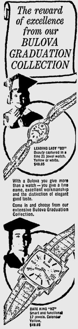 Bulova Date King watch advert