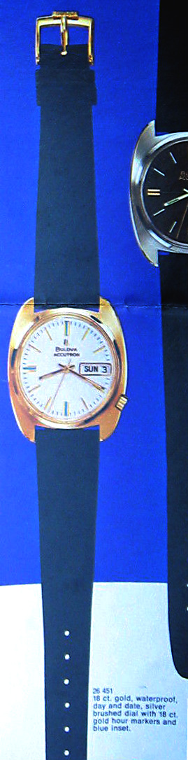 1969 Bulova Accutron Date and Day 18K gold