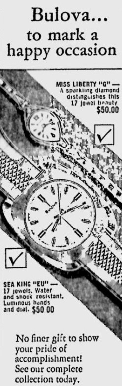 Bulova advert - The Nevada Daily Mail Feb 25 1970