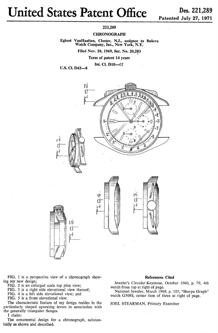Bulova Moon Watch 1971 Patent
