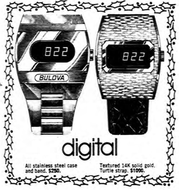 1974 Bulova Accuquartz digital