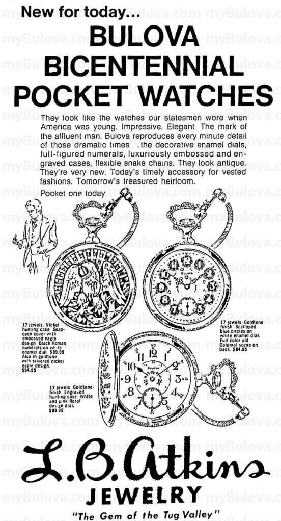1976 Bulova Bicentennial pocket watches