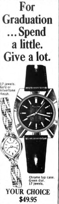 1976 Bulova watch advert