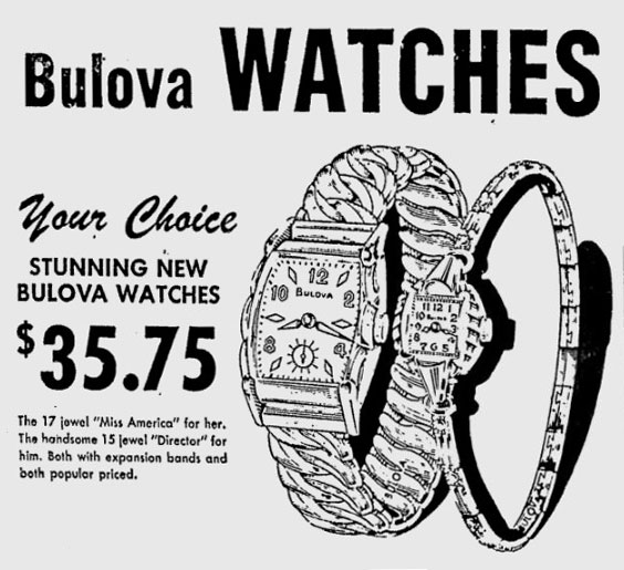 1953 Bulova Director and Miss America