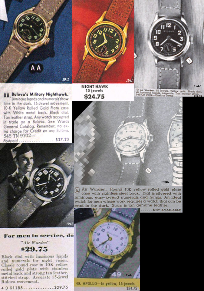 Bulova 1940 Nighthawk and Air Warden.
