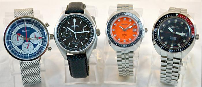 Bulova Menu Archive Series Watches - Chronograph 'C', The Moon Watch, Devil Diver
