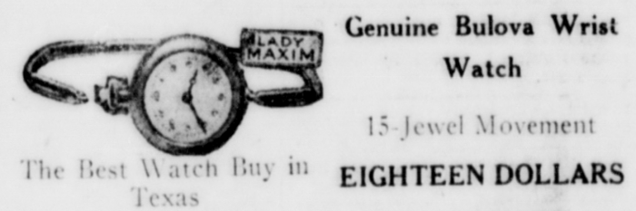 1921 Bulova Lady Maxim Watch