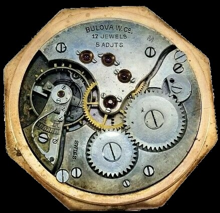 "Bulova ""M"" pocket watch movement"