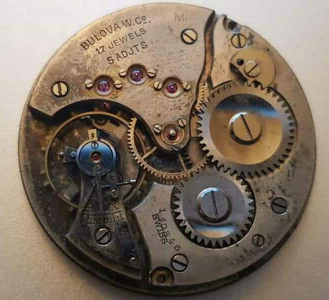"Bulova ""M"" 1921 pocket watch movement"