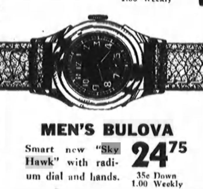 Buloba 1943 Sky Hawk watch