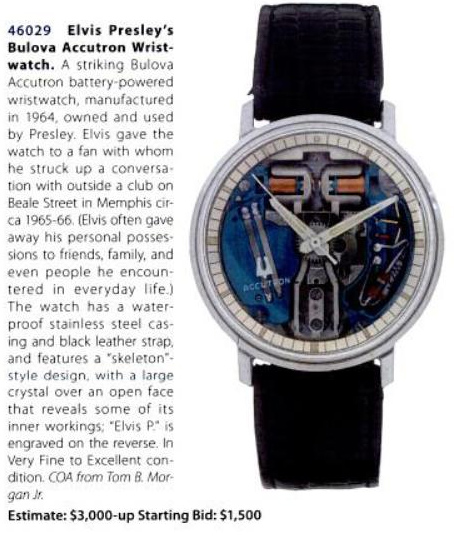 Elvis Presely Accutron Spaceview
