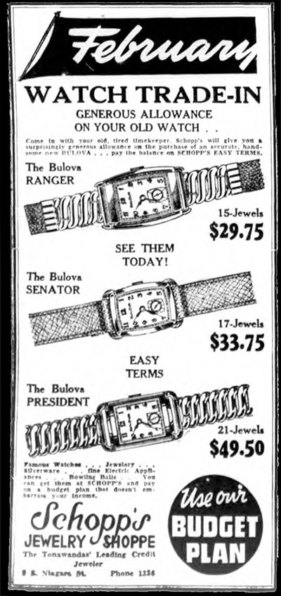 1941 Bulova watch advert