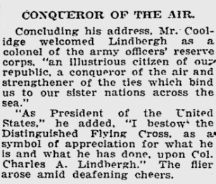 Conqueror of the air - Lindbergh 1927