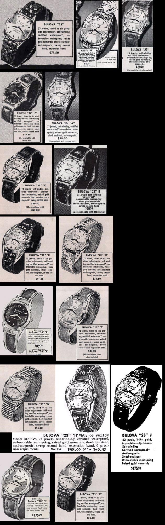 "Bulova 23 ""F"" watch"