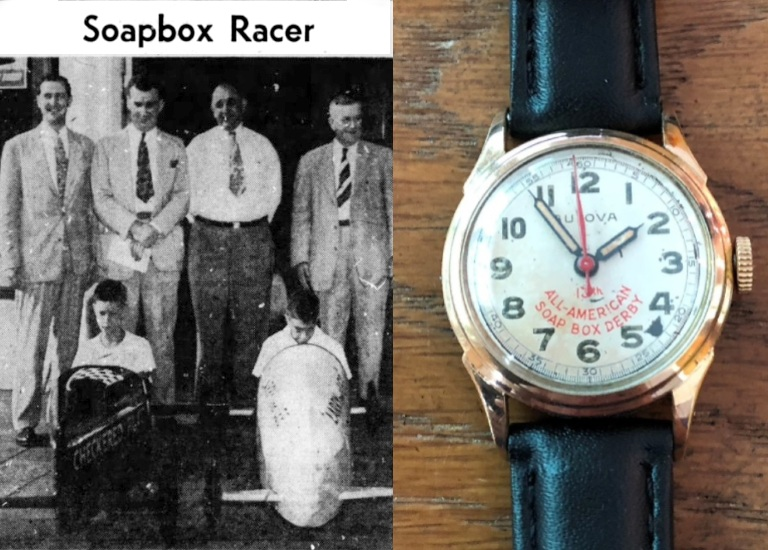 1950 Bulova watch prize - Soap Box Derby