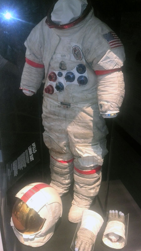 Commander Dave Scott space suit