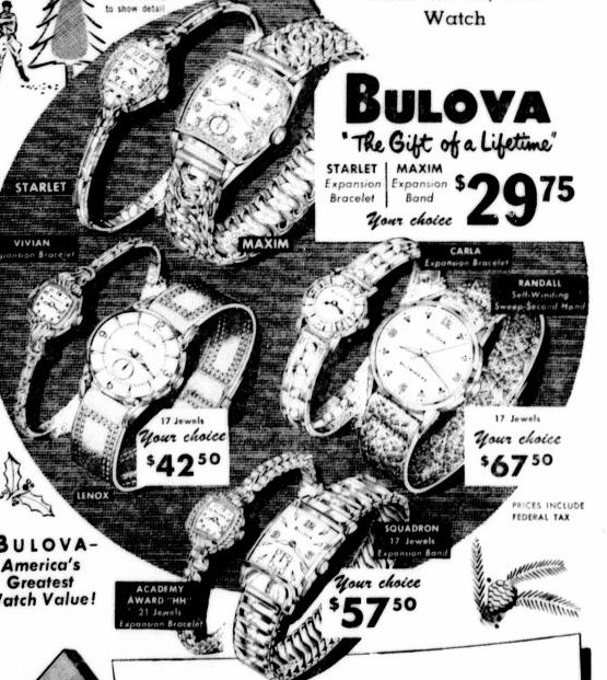 Bulova Lenox watch advert