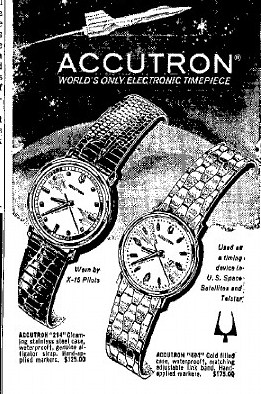 Bulova Accutron watch advert