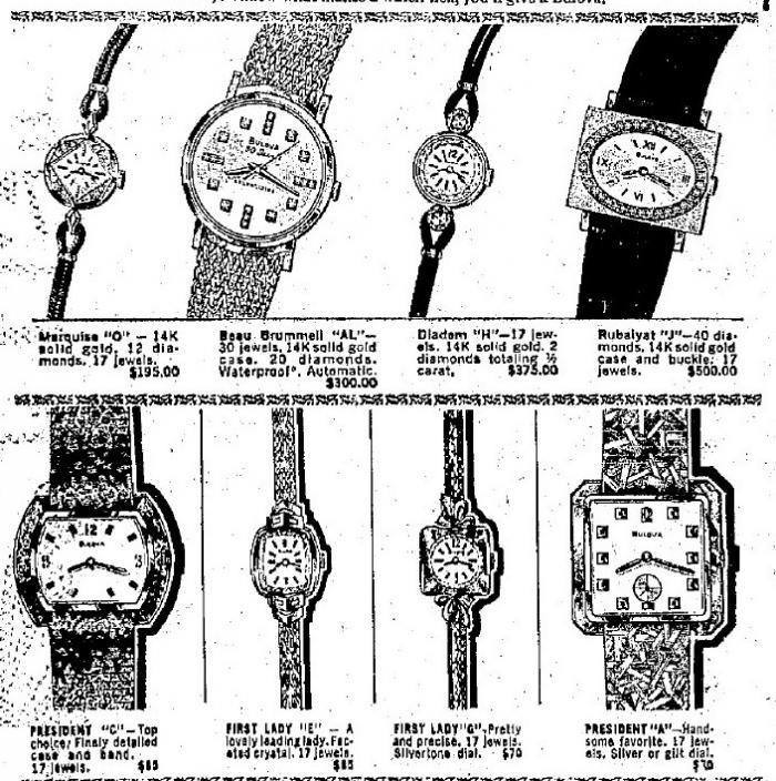 1968 Bulova watch advert